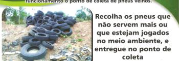 Ponto de coleta de pneus velhos em Inhumas